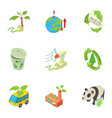 global protection icons set isometric style vector image vector image