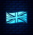 glowing neon flag great britain icon isolated vector image vector image