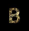 golden ornamental alphabet letter b font vector image vector image