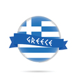 greece flag with blue ribbon in colorful vector image vector image