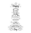 greeting card independence day hand draw vector image vector image