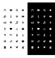 holiday events glyph icons set for night and day vector image