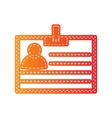 Id card sign Orange applique isolated vector image vector image