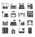 Interior And Furniture Icons Set vector image