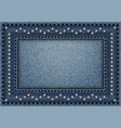 jeans frame with sequin ornament vector image