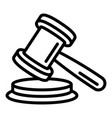 judge gavel icon outline style vector image vector image