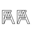 logo sign fa af icon sign interlaced letters a f
