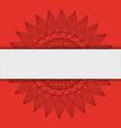 mandala indian emblem vector image vector image