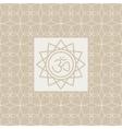 Om In Frame Yoga Studio Design Card vector image