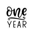 one year baby shower newborn age marker vector image