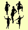 plus size woman silhouette 04 vector image vector image