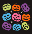 pumpkin halloween pattern vector image