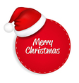 Red Speech Bubble With Santa Hat vector image vector image