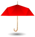 Red umbrella icon vector image