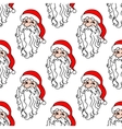 Santa Claus seamless pattern for christmas vector image