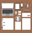 set blank templates mockup to demonstrate the vector image vector image