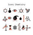 set chemical elements vector image vector image