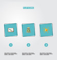 set of idea icons flat style symbols with profit vector image