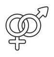 sexual health gender female and male together vector image