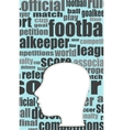 silhouette of his head with the words on the vector image vector image