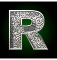 silver cutted figure r vector image vector image