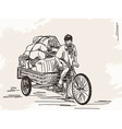 Sketch of cycle rickshaw vector image
