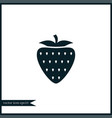 strawberry icon simple fruit vector image vector image