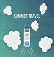 Summer travel background with Cruise Liner vector image vector image