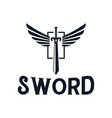 sword and wings logo design inspiration vector image vector image