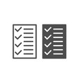 test line and glyph icon to do list vector image vector image