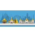 Thailand Royal Temple and Grand Palace vector image vector image
