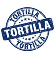 tortilla stamp vector image vector image