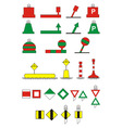 Traffic signs river navigation vector | Price: 1 Credit (USD $1)