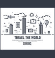 travel world vector image vector image