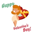 Valentine Day cupid angel cartoon style vector image vector image