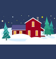 winter house in the scandinavian style vector image vector image