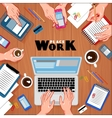 Workplace Top View Composition vector image