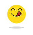 yummy icon hungry smiling face with mouth and vector image vector image