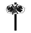 stone hammer icon simple style vector image