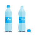 1 litre bottle of pure water on a white vector image vector image