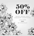 50 percent price off advertising flyer and coupon vector image vector image