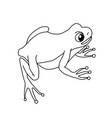 a sitting green frog on a white background vector image vector image