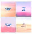 abstract red pink blurred background set 4 vector image vector image