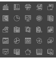 Accounting concept icons vector image