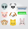 animoji set vector image