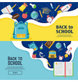 back to school banner classroom bright poster vector image vector image