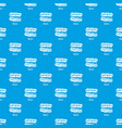 bacon pattern seamless blue vector image