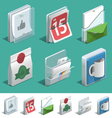 Basic Printing icons vector image vector image