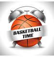 Basketball time vector image vector image