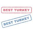 best turkey textile stamps vector image vector image